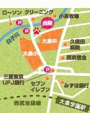 大泉ココ動物病院への地図